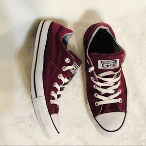 Converse Maroon Low Top Shoes